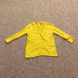 GAP yellow cardigan- size medium